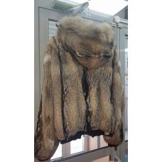 Куртка шуба волк с капюшоном