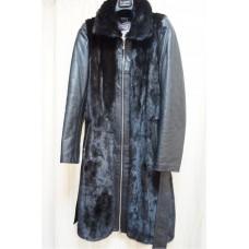 Кожаное пальто + норка  Fendi оригинал